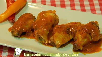Receta de alitas de pollo con salsa picante
