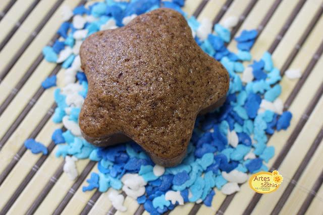 bolinhos  integrais de chocolate  com especiarias do Davi