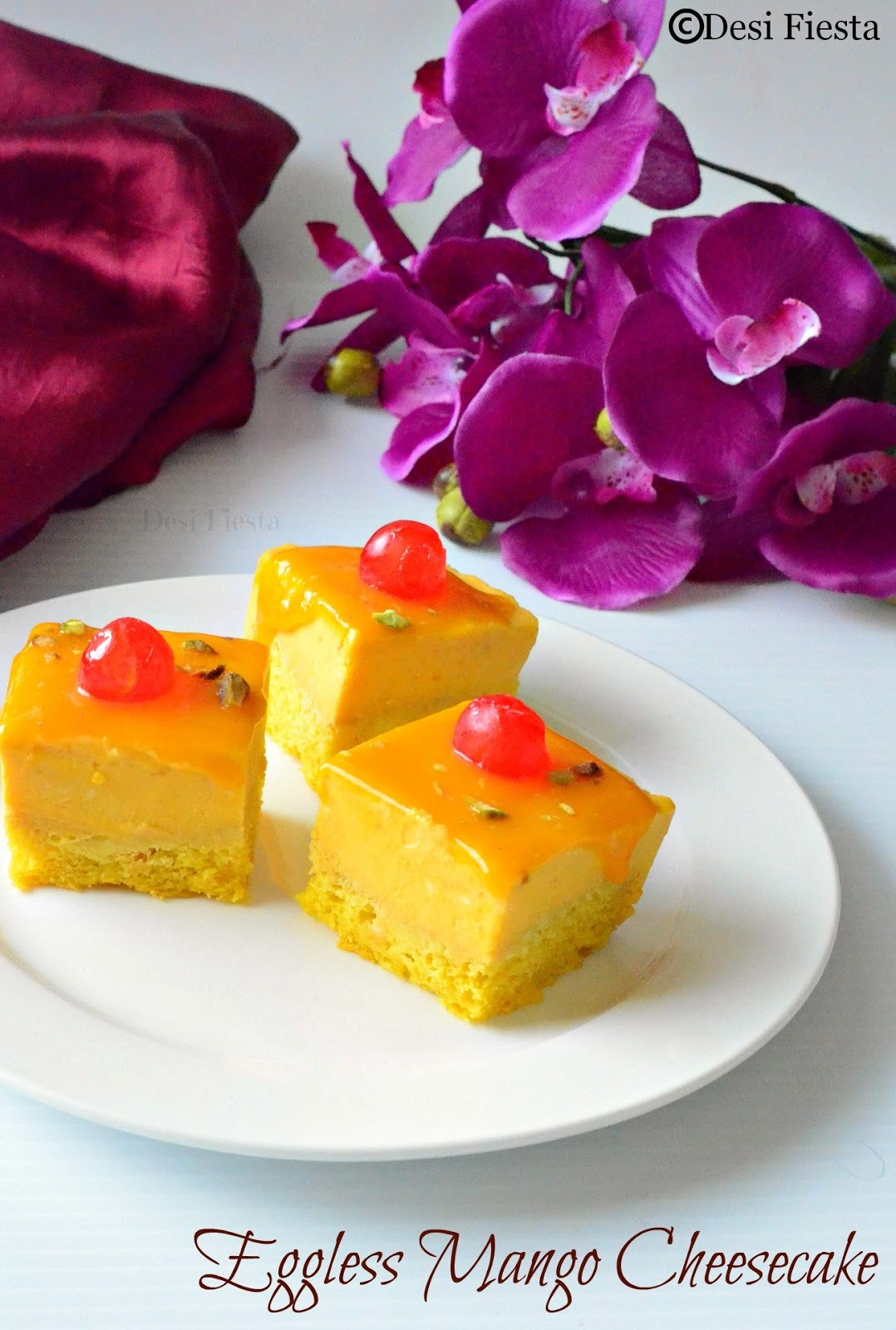 how to make an eggless mango cake without oven