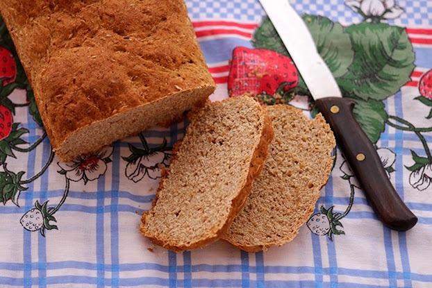 Pão integral rico em fibras