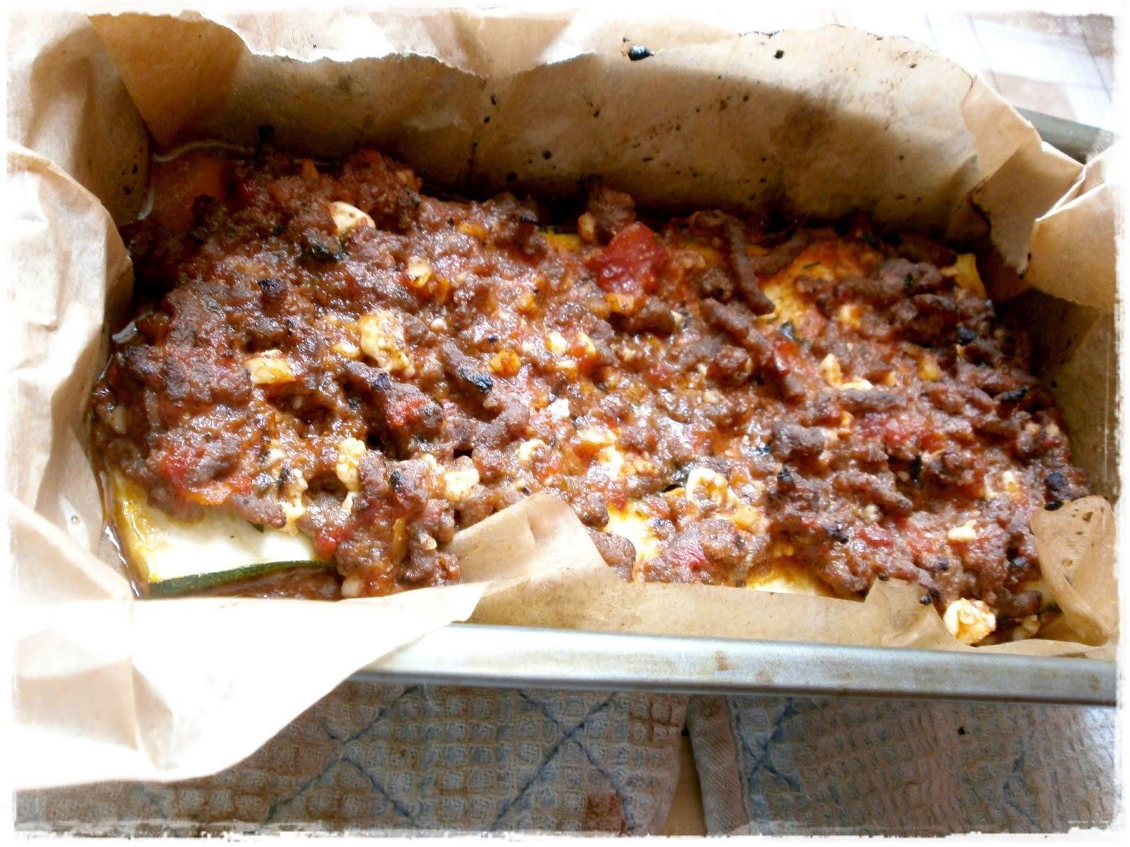 """Cuketové """"lasagne"""" s hovädzím mäsom"""