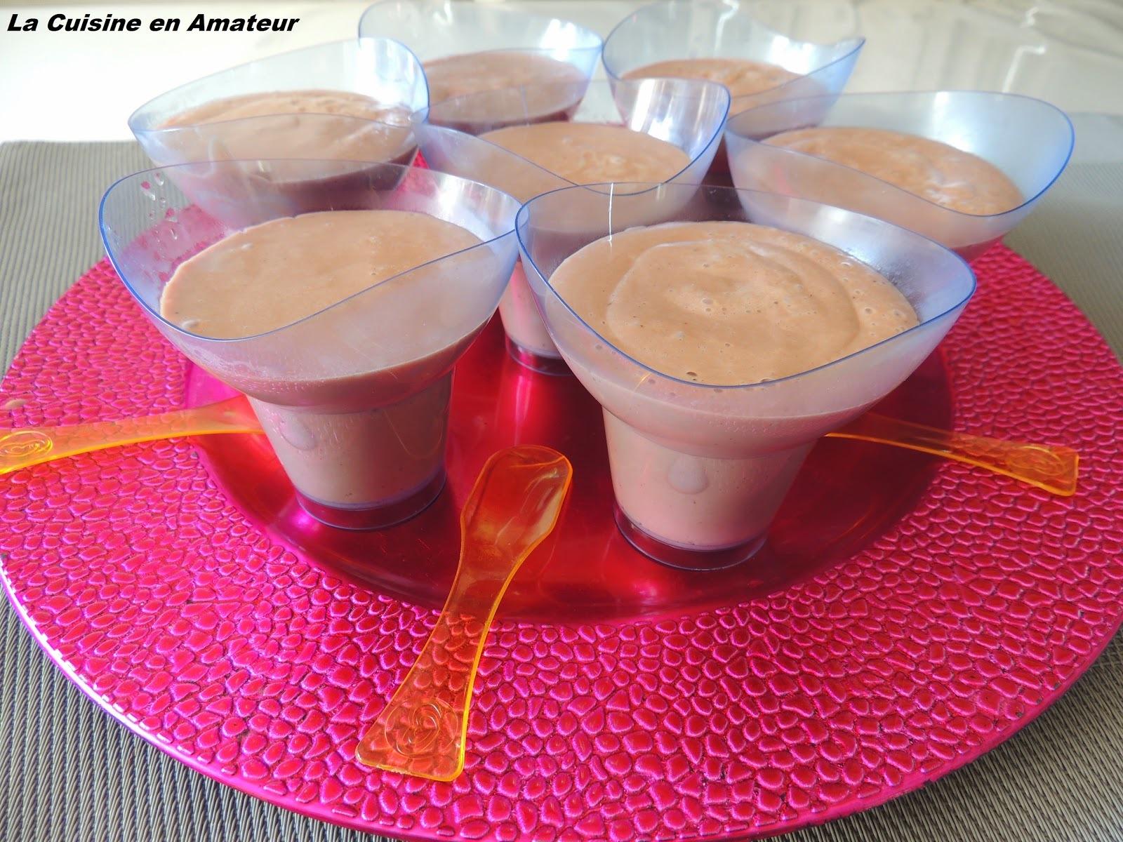 Crème dessert façon Danette dans le Soup & Co