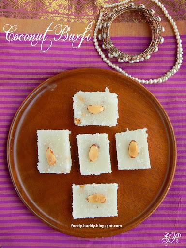 Coconut Burfi / Thengai Burfi Recipe / Easy Diwali Sweet