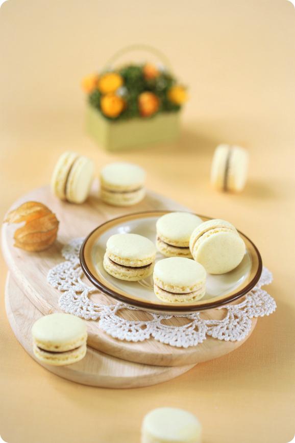 Макаронс с шоколадом и маракуйей / Macarons com chocolate e maracujá