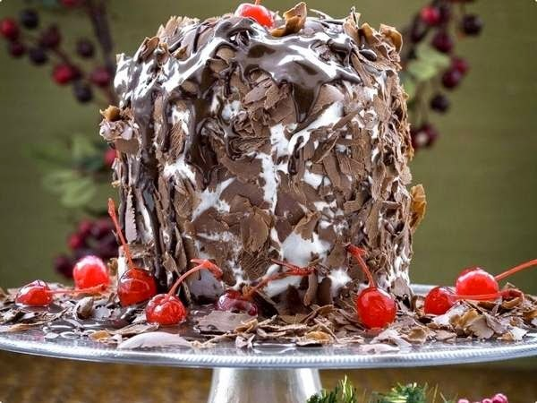 de panetone trufado chantilly e chocolate