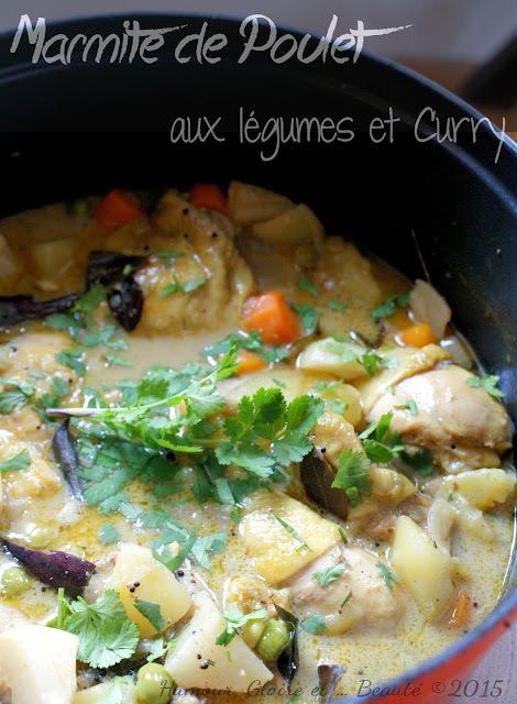 Marmite de curry de poulet aux légumes (Inde)