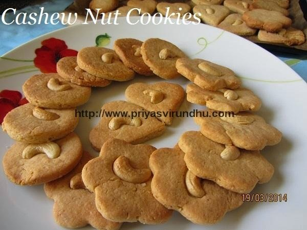 Cashew Nut Cookies/Mundhiri Paruppu Cookies