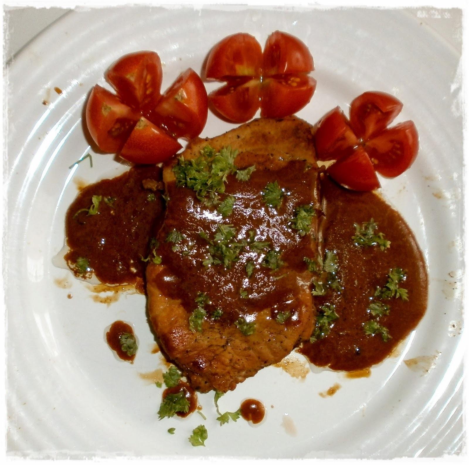 Študentské steaky s omáčkou z Karibiku