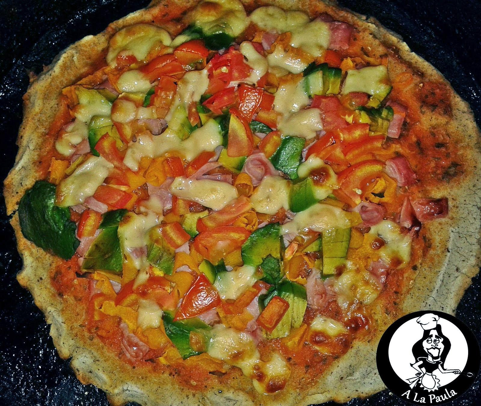A la Paula Presenta: Pizza Sin gluten, sin huevos y sin levadura!!!! Y sigue siendo rica!