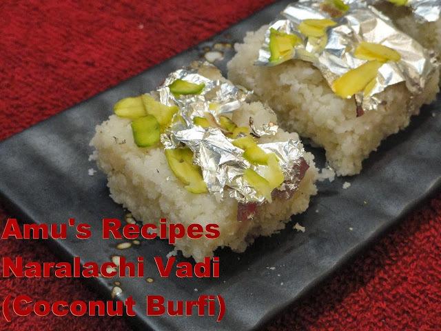 Naralachi Vadi (Coconut Burfi)