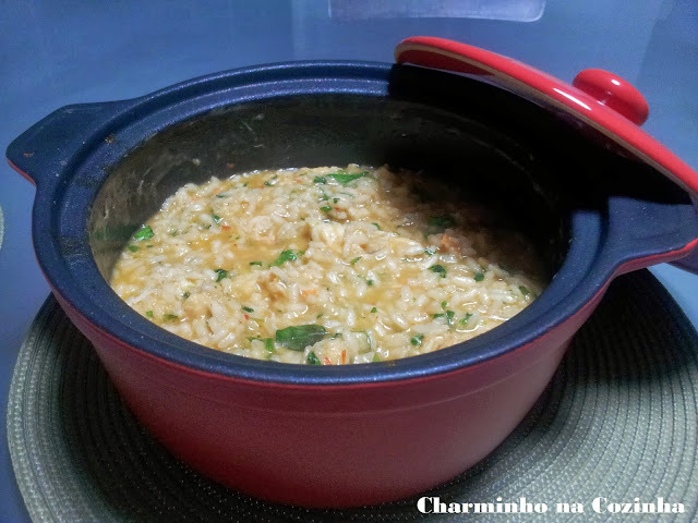 risoto com arroz japones