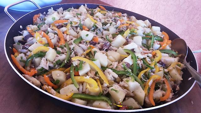 Salada de Catado de Caranguejo com Batatas e as Comemorações do meu Aniversário