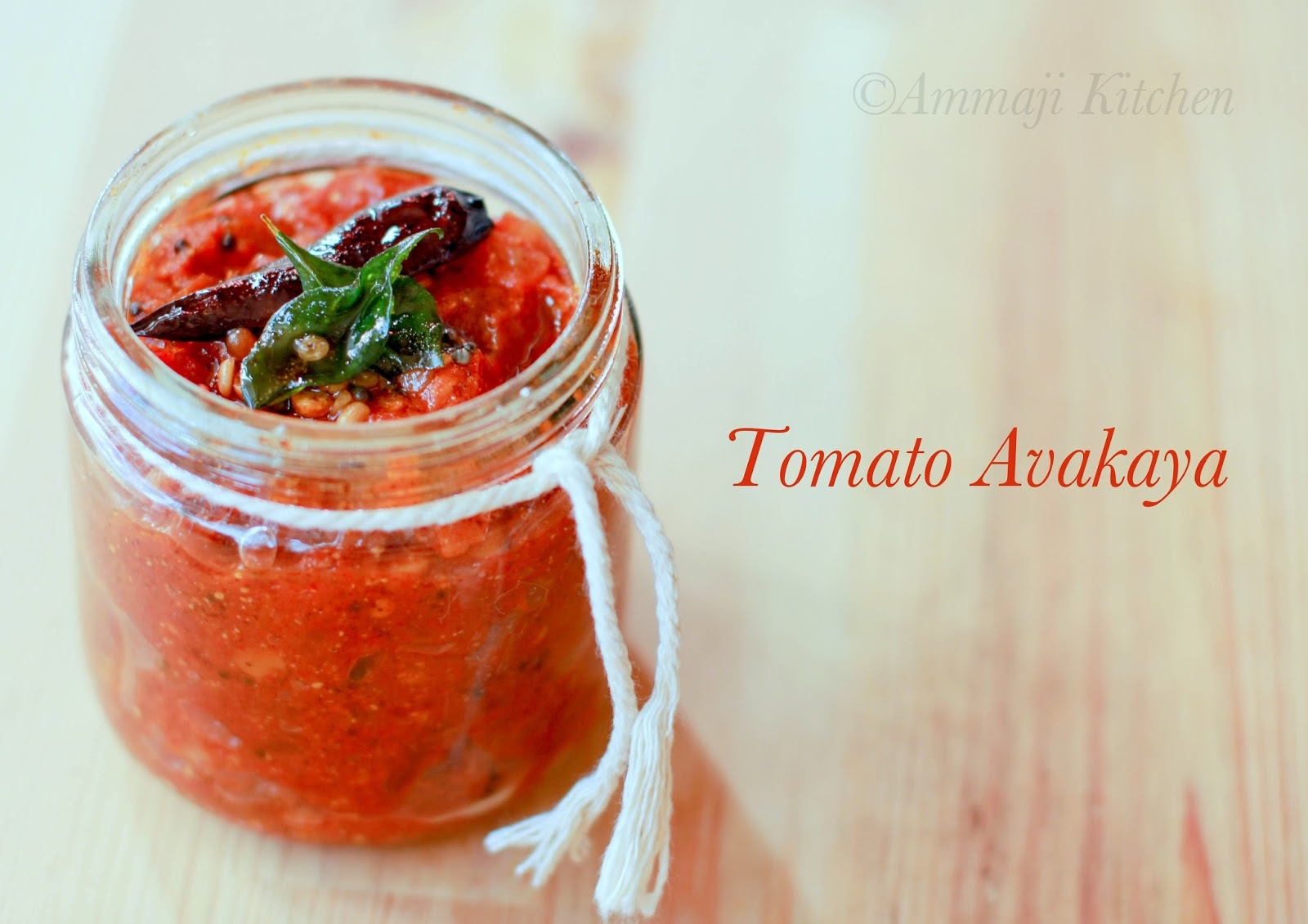 Tomato Pickle | Tomato Avakaya