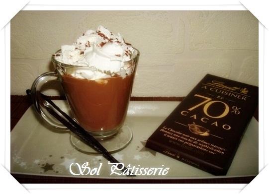 Chocolat chaud crémeux - Chocolate quente cremoso