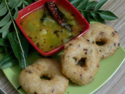 Onion Vada Sambhar