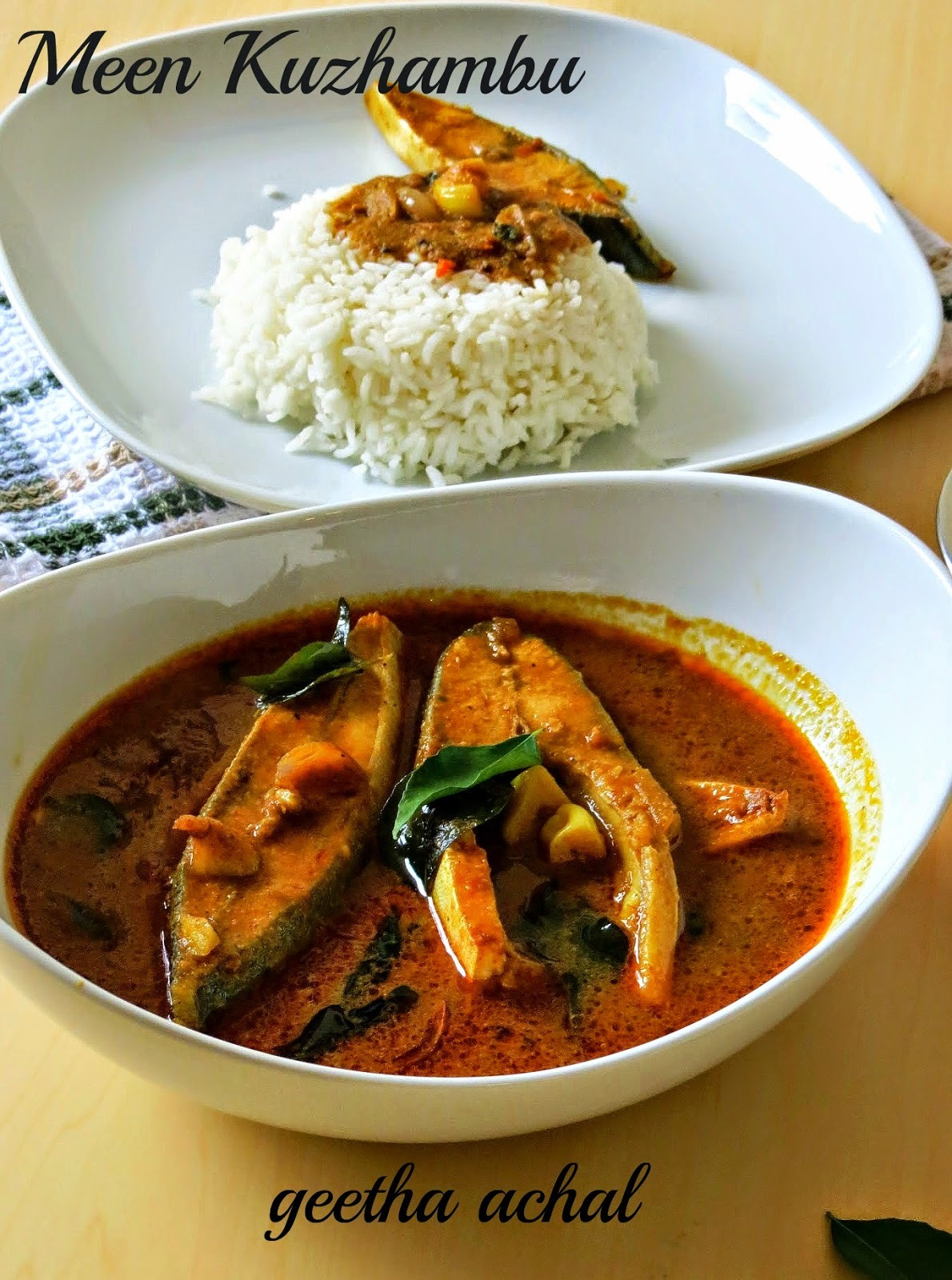 """Salem Fish Curry - சேலம் மீன் குழம்பு - A guest post from my friend """" Geetha Achal"""""""