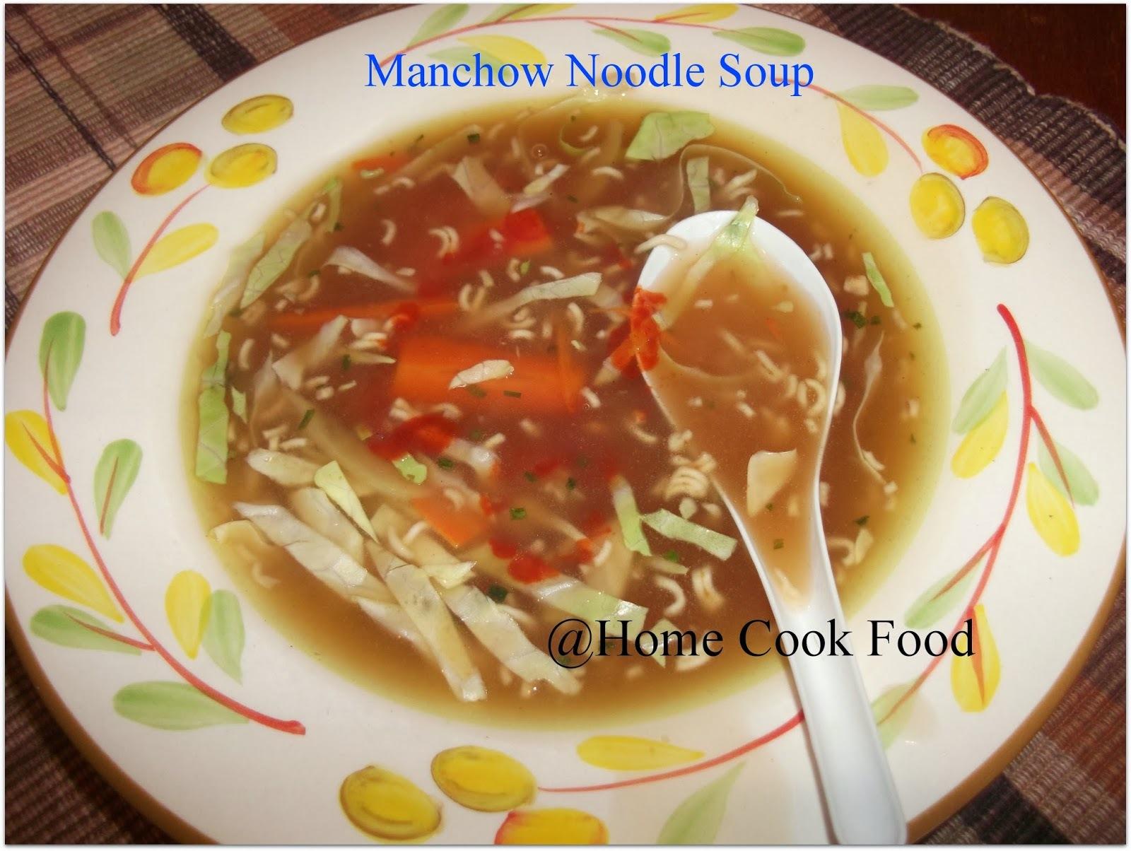 Manchow Noodle Soup