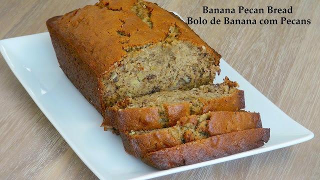 Episode 15 Bolo de Banana Com Pecans - Banana Pecan Bread