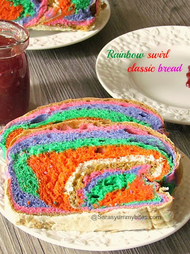 Ylber Bukë / Rainbow swirl classic bread
