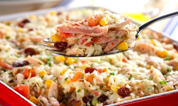 arroz de forno peito de frango defumado