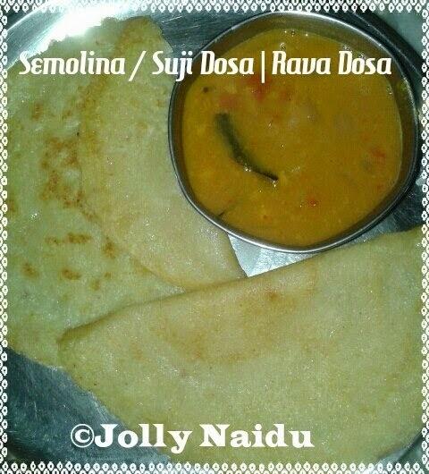 Semolina / Suji Dosa | Easy Rava Dosa