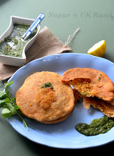 Moong Dal Khasta Kachori - Deep fried stuffed bread