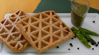 Peppery Moong Daal Waffles