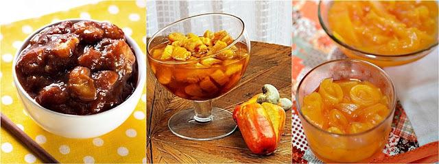 3 receitas de doces caseiros: banana, caju e mamão
