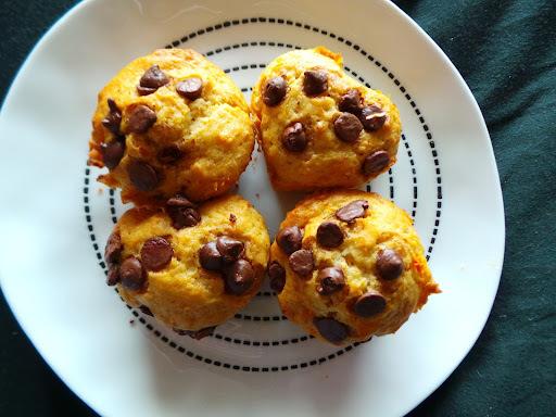 Mini Muffins de Zanahoria y chips de Chocolate