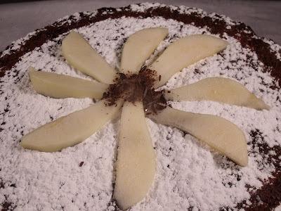 Gâteau fondant poire-chocolat