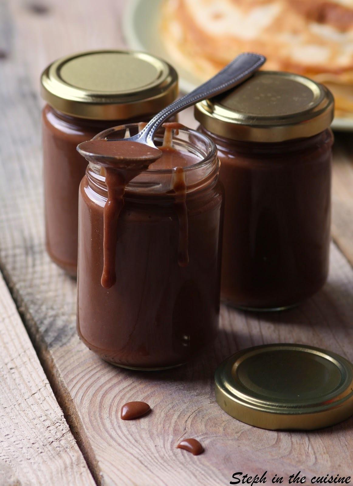 "Pâte à tartiner ""maison"" caramel et chocolat ou la petite bombe à tartiner de Dorian"