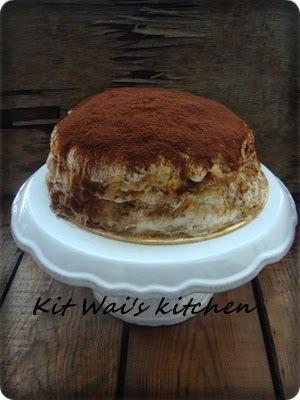 法式提拉米苏千层蛋糕 ~ French-style Tiramisu Mille Crepes