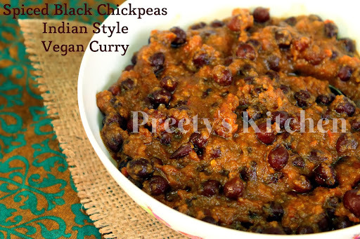 Spiced Black Chickpeas Indian Style Vegan Curry / Masaledar Kala Channa