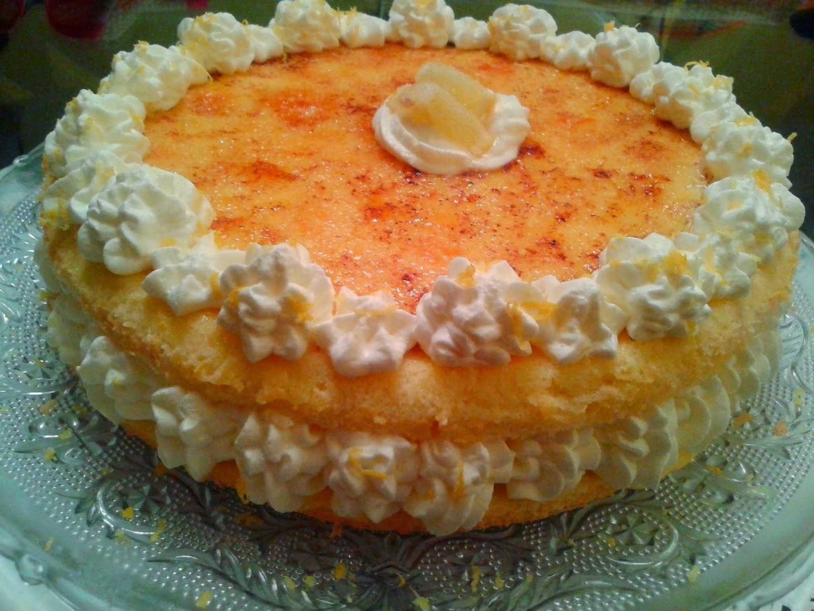 Tarta con Crema de Limón Caramelizado