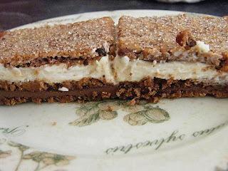 Gâteau de petit-beurre au nutella et à la crème mascarpone