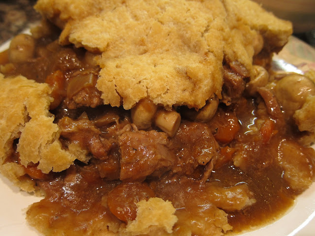 Beef and vegetable suet pudding - recipe