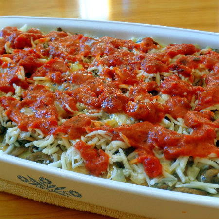 Tomato and Spinach Strata