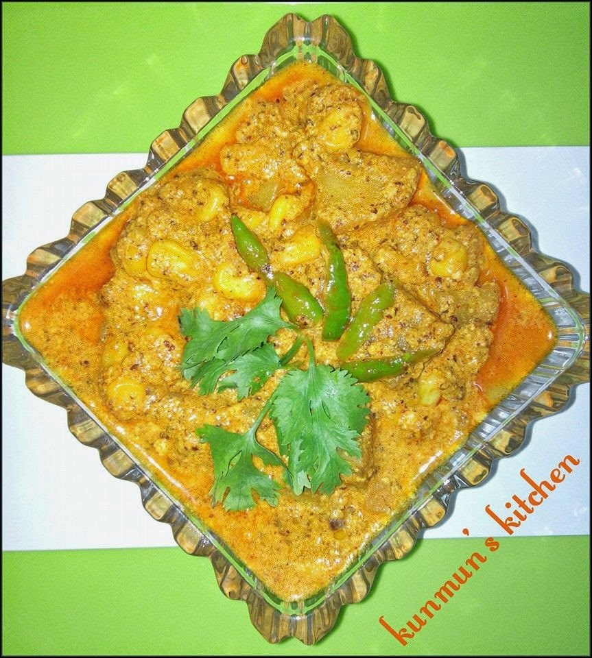 Makka Besara (Sweet Corn in Mustard Paste Gravy)