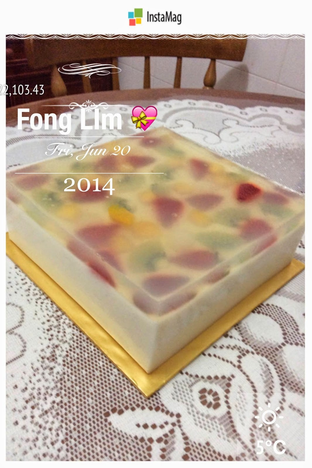 ~ Fruity Pudding Cake ❤ 水果布丁蛋糕 ~