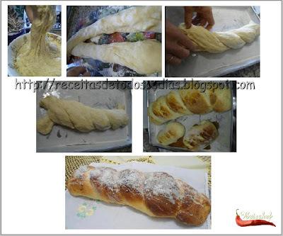 Pão Doce Recheado com Doce de Leite e Cobertura de leite de Condensado  e Coco da Betechef