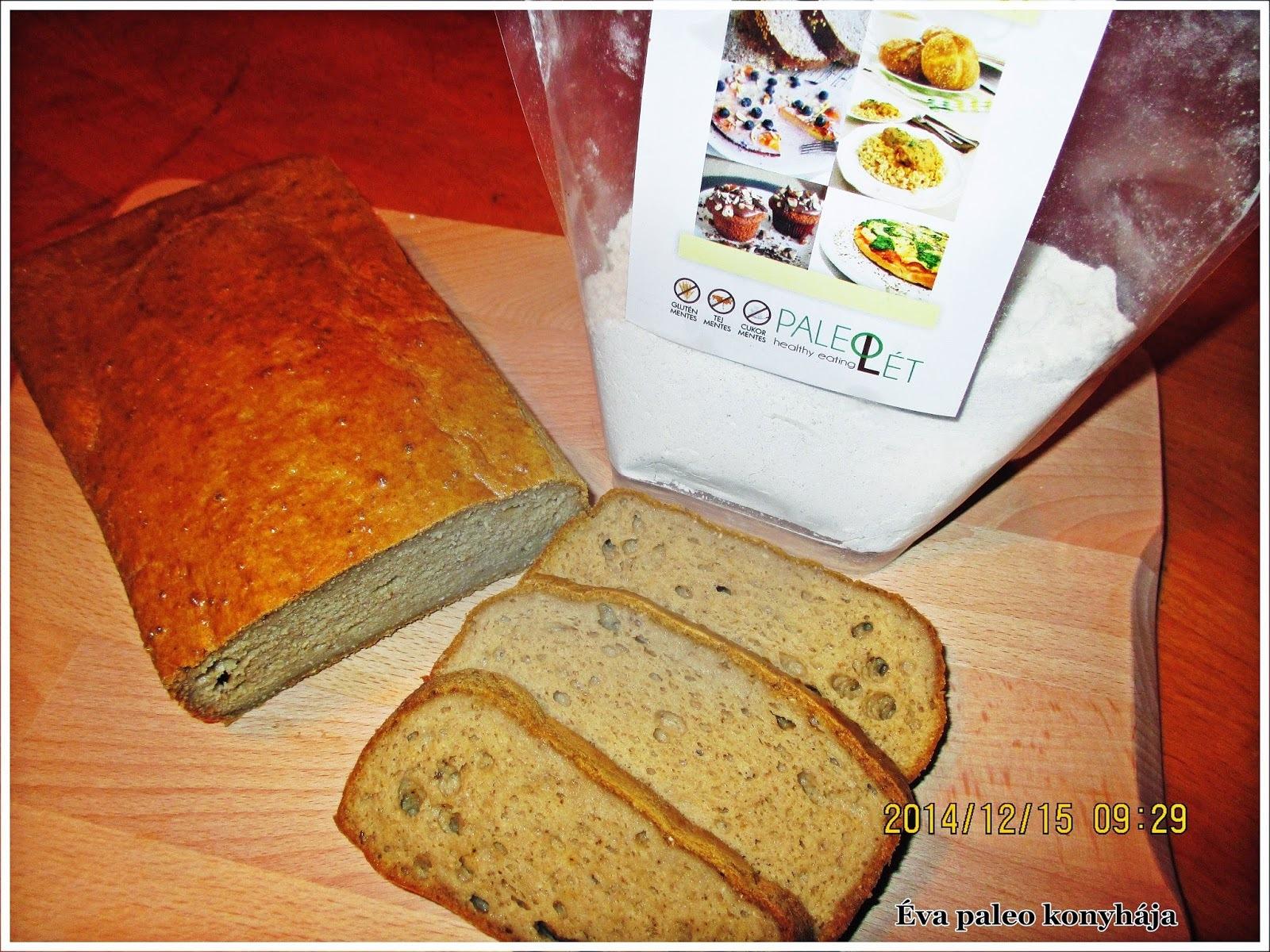 Paleo- kenyér- Paleolét -Lisztvarázs -keverékből