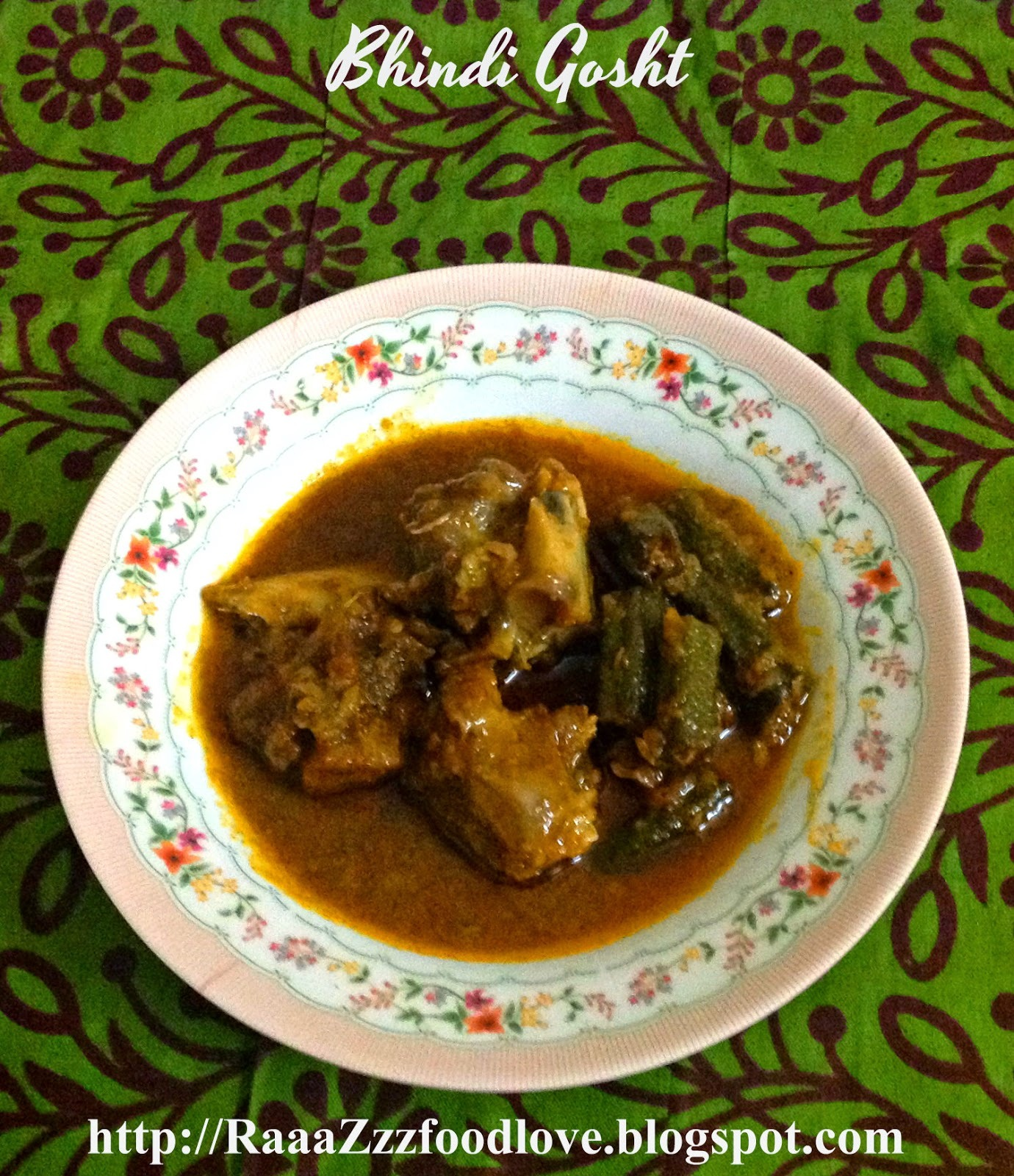 Bhindi Gosht - Okra and Mutton Curry