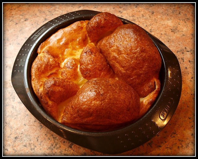 Yorkshire Pudding with beef mince