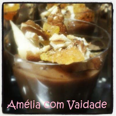 Brigadeiro Gourmet com Cointreau, noz pecã, damascos e castanha do Brasil