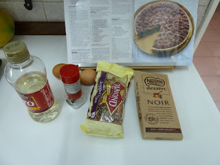 Chocolate Pecan Tart - Tarta de nuez y chocolate