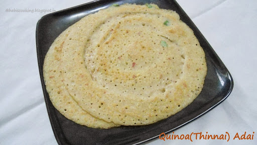Quinoa  Lentils rice crepes/Thinnai Adai | Healthy Breakfast | Recipe with thinnai/quinoa