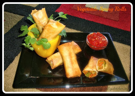 Vegetable Spring Rolls / Crispy Chinese Style Spring Rolls / Chinese Spring Rolls Recipe-How to make Spring Rolls.