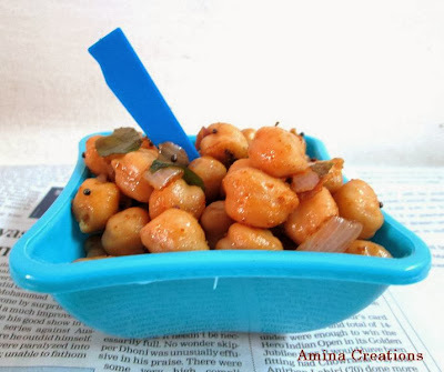CHANA SUNDAL/ CHICKPEA STIR FRY