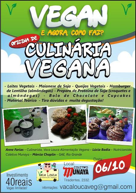II Curso de Culinária Vegana - Rio Grande do Sul