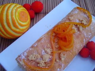 Brazo de Gitano de Turrón con Naranja